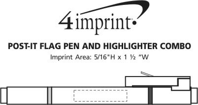 Imprint Area of Post-it® Flag Pen and Highlighter Combo