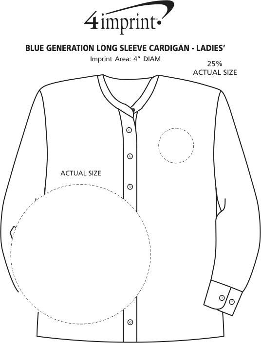 Imprint Area of Blue Generation Long Sleeve Cardigan - Ladies'