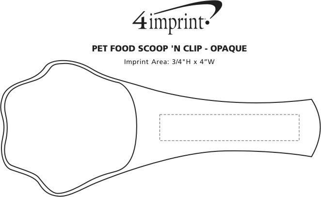 Imprint Area of Pet Food Scoop 'N Clip - Opaque