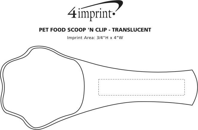 Imprint Area of Pet Food Scoop 'N Clip - Translucent
