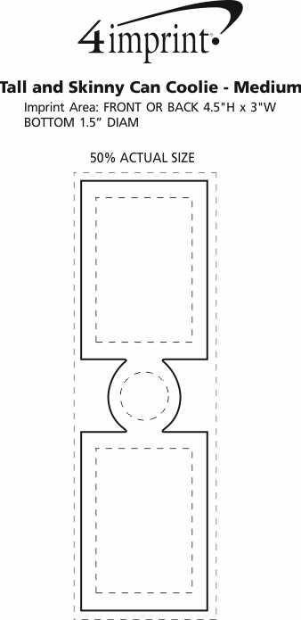 Imprint Area of Tall and Skinny Can Holder - Medium