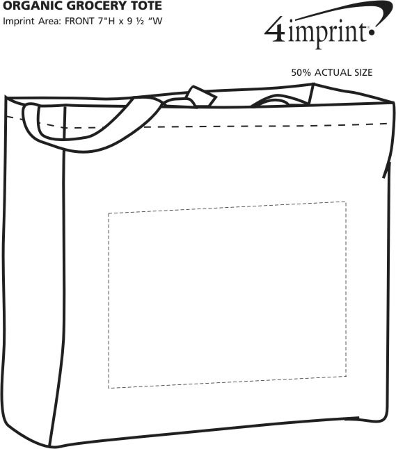 Imprint Area of Organic Grocery Tote