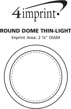 Imprint Area of Round Dome Thin-Light