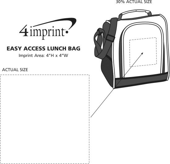Imprint Area of Easy Access Lunch Bag