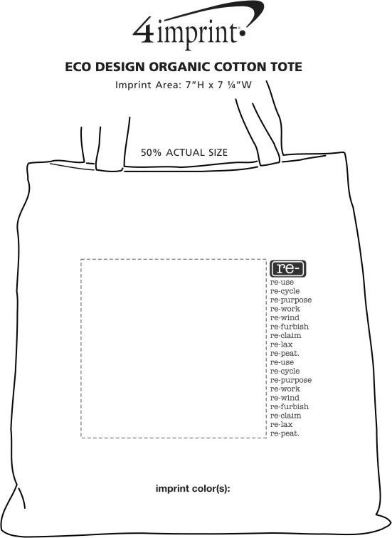 Imprint Area of Eco Design Organic Cotton Tote