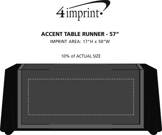 """Imprint Area of Serged Accent Table Runner - 57"""""""