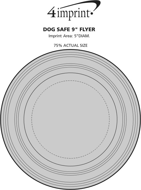 "Imprint Area of Dog Safe 9"" Flyer"