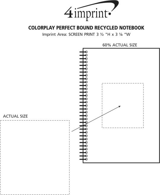 Imprint Area of Colorplay Perfect Bound Recycled Notebook