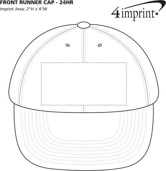 Imprint Area of Front Runner Cap - 24 hr