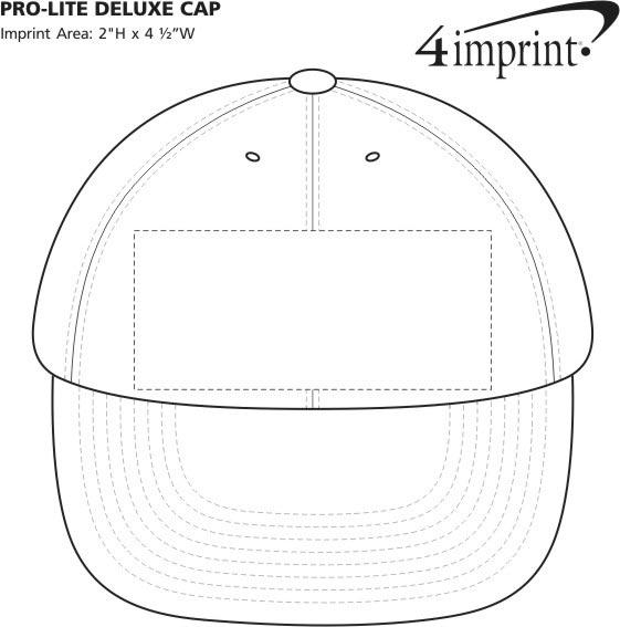 Imprint Area of Pro-Lite Deluxe Cap