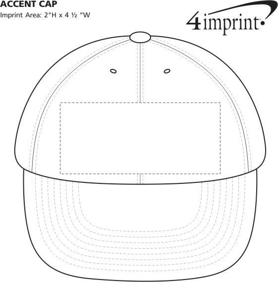 Imprint Area of Accent Cap