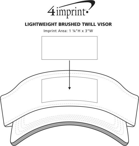 Imprint Area of Lightweight Brushed Twill Visor