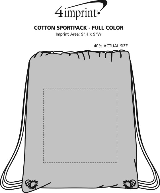 Imprint Area of Cotton Sportpack - Full Color