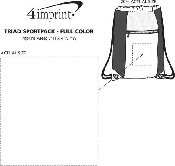 Imprint Area of Triad Sportpack - Full Color