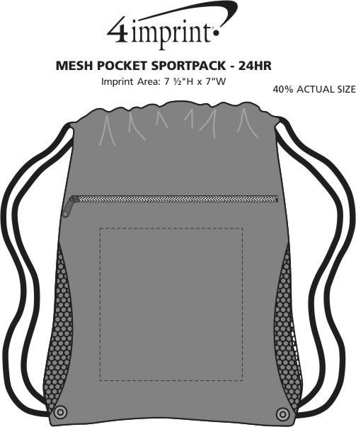 Imprint Area of Mesh Pocket Sportpack - 24 hr