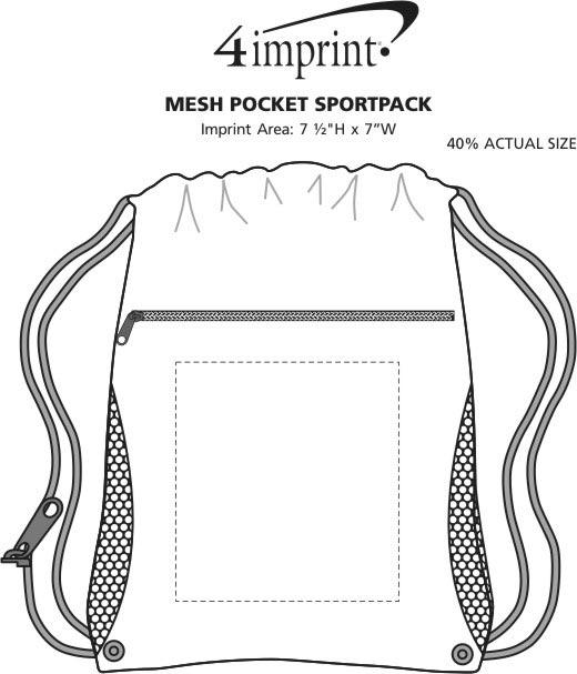 Imprint Area of Mesh Pocket Sportpack