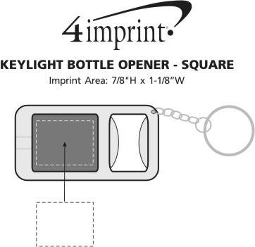 Imprint Area of Key-Light Bottle Opener - Square