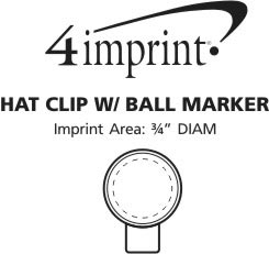 Imprint Area of Hat Clip with Ball Marker
