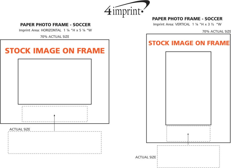 Imprint Area of Paper Photo Frame - Soccer