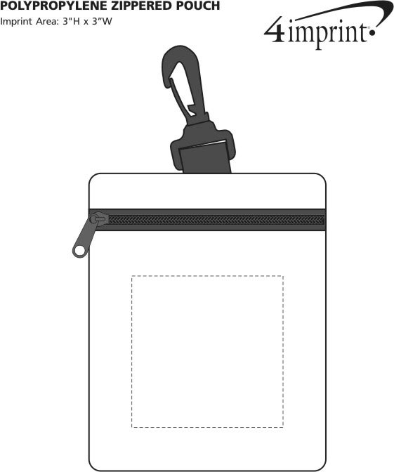 Imprint Area of Non-Woven Zippered Pouch