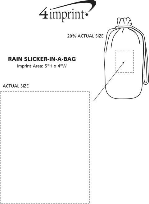 Imprint Area of Rain Slicker-In-A-Bag