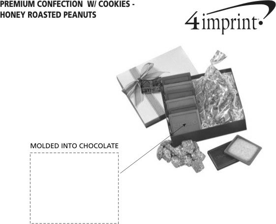 Imprint Area of Premium Confection with Cookies - Honey Roasted Peanuts