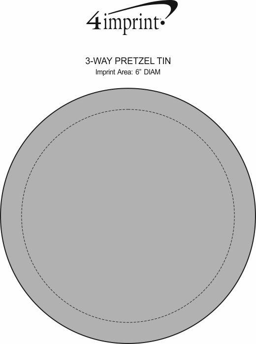 Imprint Area of 3-Way Pretzel Tin
