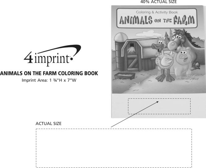 Imprint Area of Animals On The Farm Coloring Book
