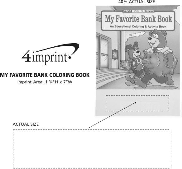 Imprint Area of My Favorite Bank Coloring Book