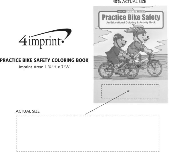 Imprint Area of Practice Bike Safety Coloring Book