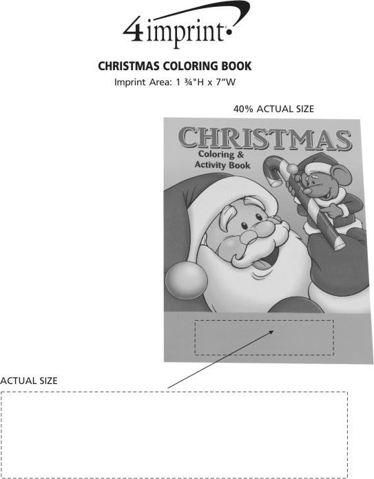 Imprint Area of Christmas Coloring Book