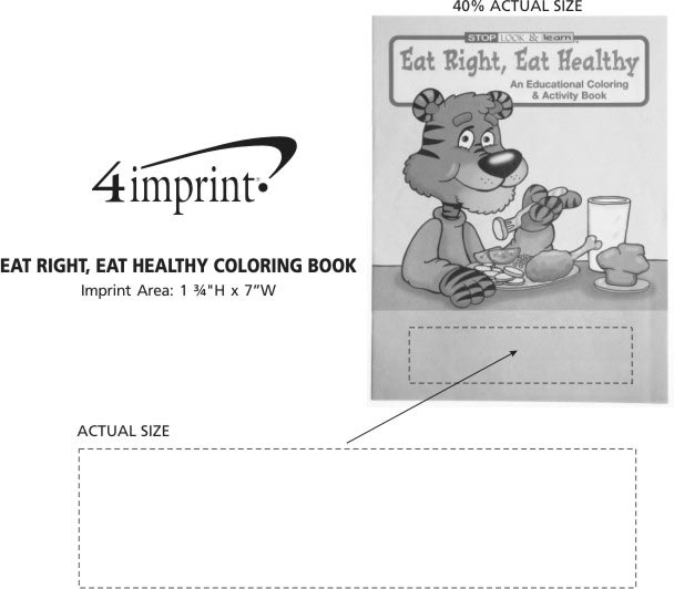 Imprint Area of Eat Right, Eat Healthy Coloring Book