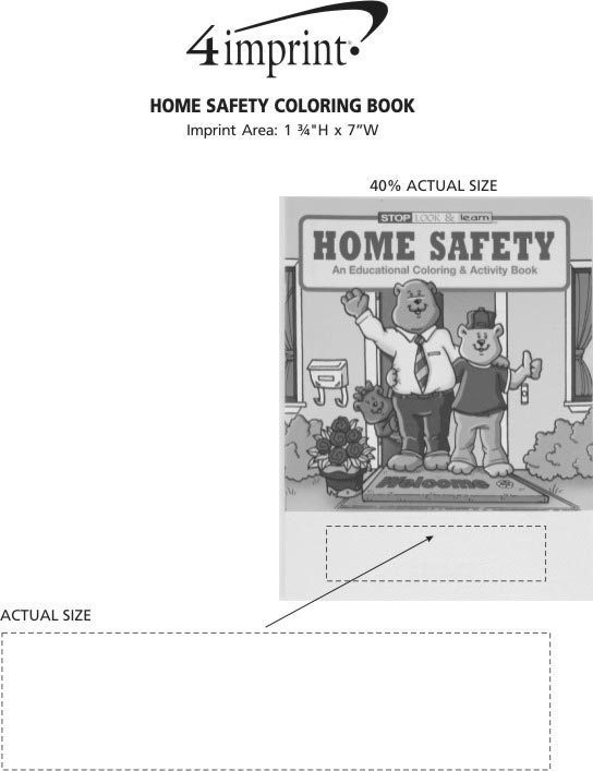 Imprint Area of Home Safety Coloring Book