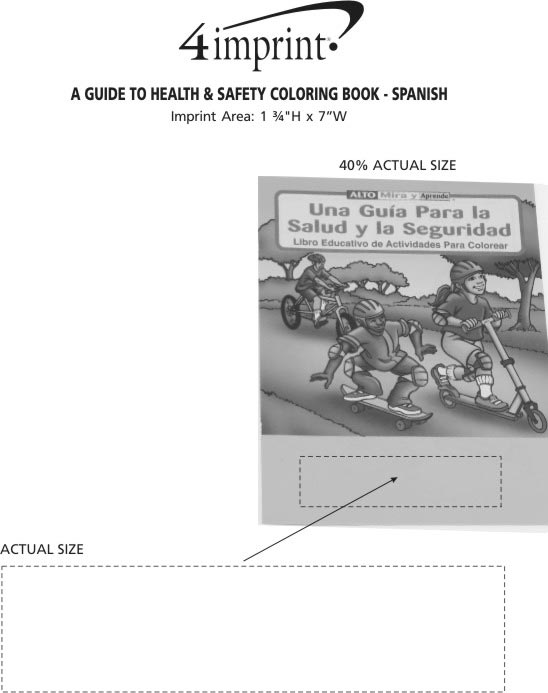 Imprint Area of A Guide To Health & Safety Coloring Book - Spanish