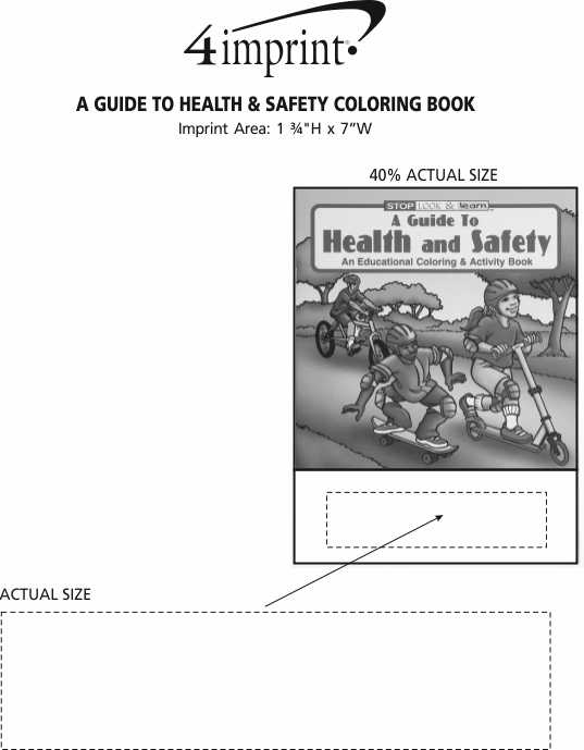 Imprint Area of A Guide To Health & Safety Coloring Book