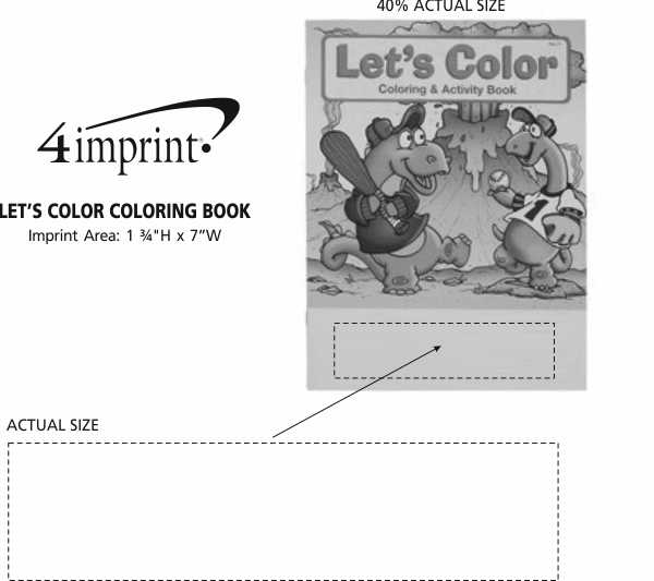 Imprint Area of Let's Color Coloring Book