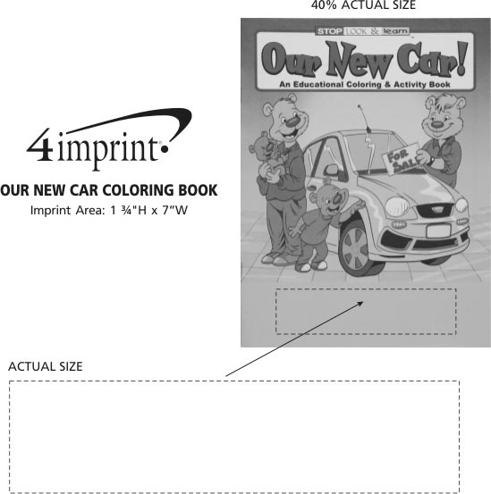 Imprint Area of Our New Car Coloring Book