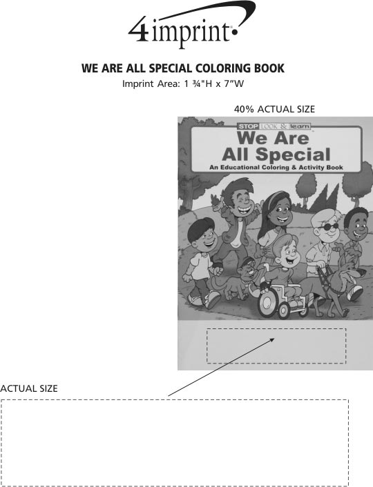 Imprint Area of We Are All Special Coloring Book