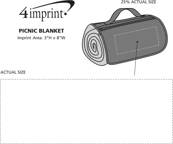 Imprint Area of Picnic/Stadium Blanket