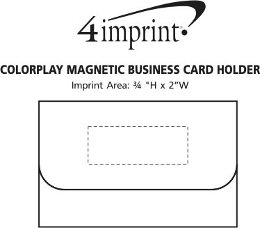 Imprint Area of Colorplay Magnetic Business Card Holder