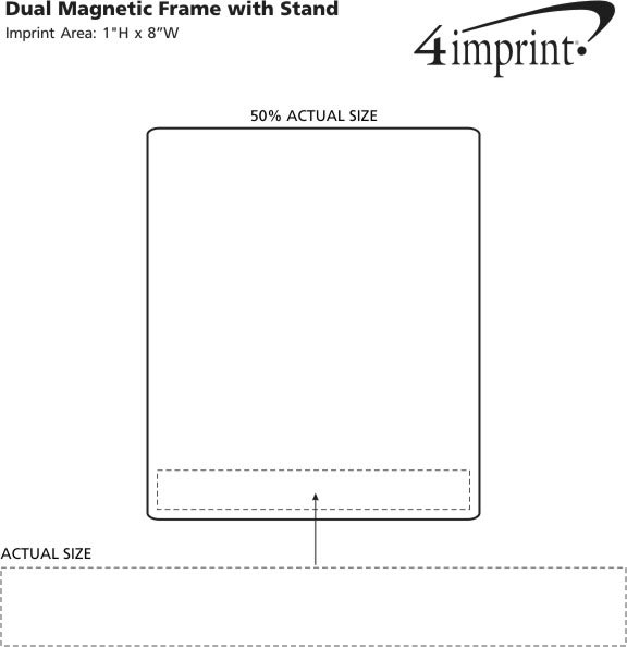 Imprint Area of Dual Magnetic Frame with Stand