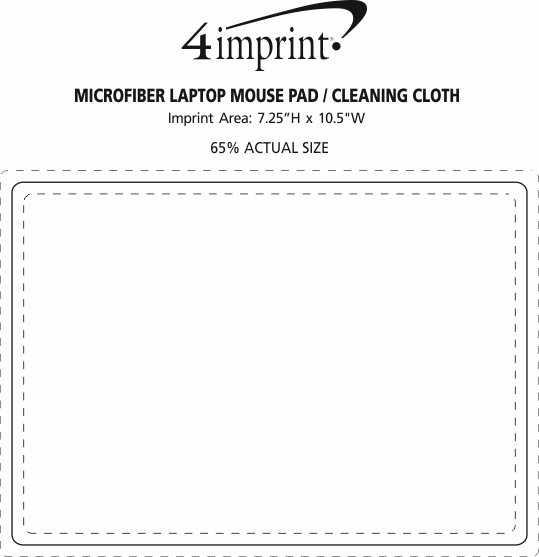 Imprint Area of Microfiber Laptop Mouse Pad/Cleaning Cloth