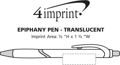 Imprint Area of Epiphany Pen - Translucent