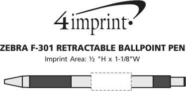 Imprint Area of Zebra F301 Pen