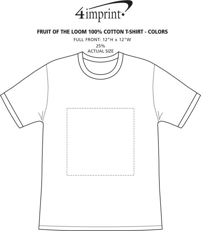 Imprint Area of Fruit of the Loom HD T-Shirt - Men's - Colors