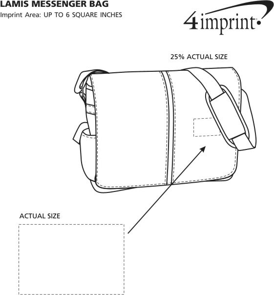 Imprint Area of Lamis Messenger Bag
