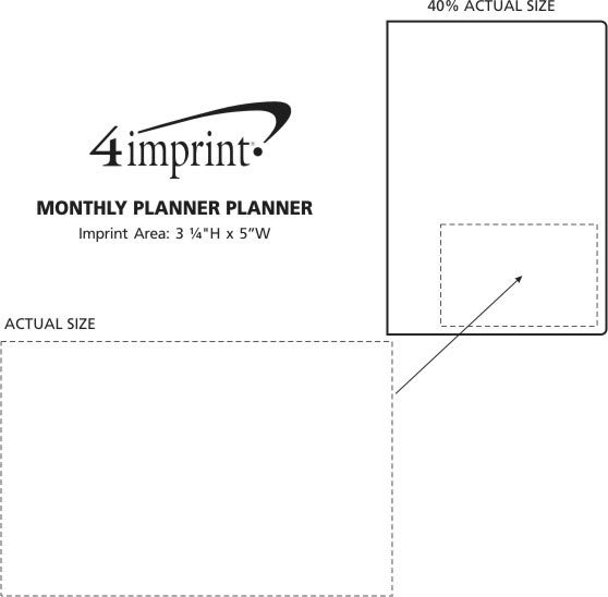 Imprint Area of Executive Monthly Planner