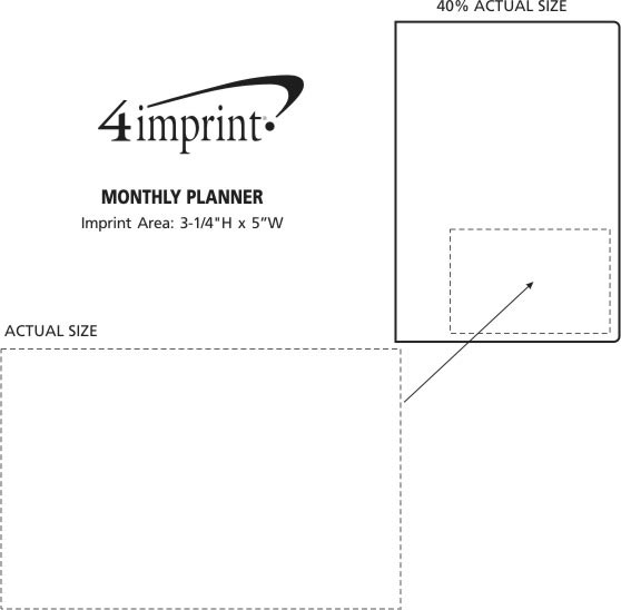 Imprint Area of Monthly Planner