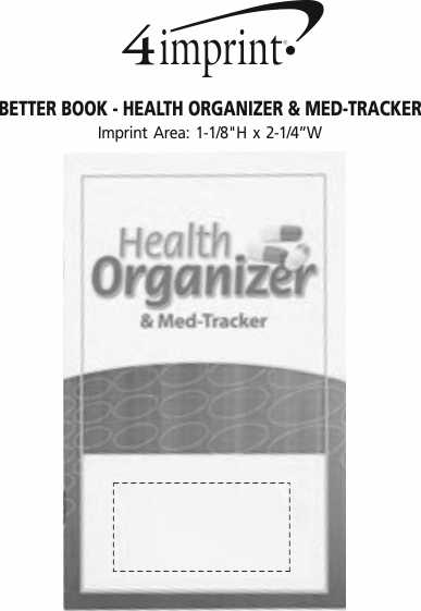 Imprint Area of Better Book - Health Organizer & Med-Tracker