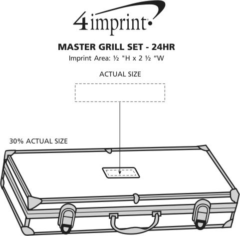 Imprint Area of Master Grill Set - 24 hr
